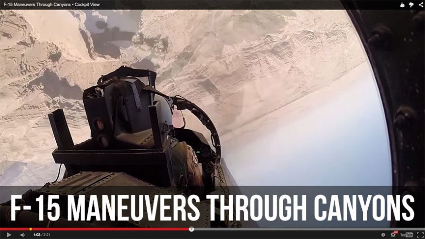 7 Videos from a Pilot View; Carrier Launches, Dog Fights, Canyon Runs, and Harrier Landings