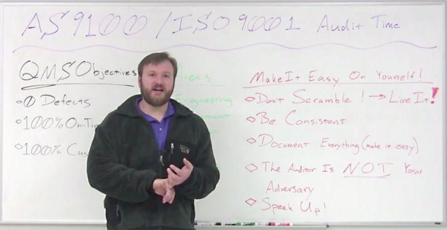 AS9100 & ISO 9001 Certification Preparation Tips – Weekly Whiteboard