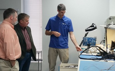 Wireless Research Center of NC Visits Duotech