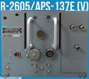 r-2605 aps-137 radar system