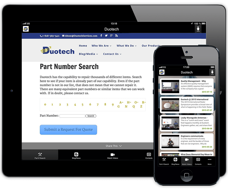 Download The Duotech App for Your Mobile Devices