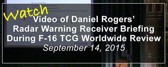 radar warning receiver briefing f-16 tcg