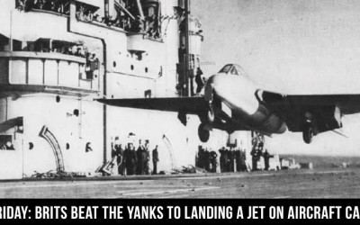 Jet Friday: Brits Beat the Yanks to Landing a Jet on Aircraft Carrier