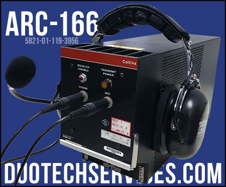 arc-166-5821-01-119-3956 p/n 649-0360-001 radio transmitter/receivers