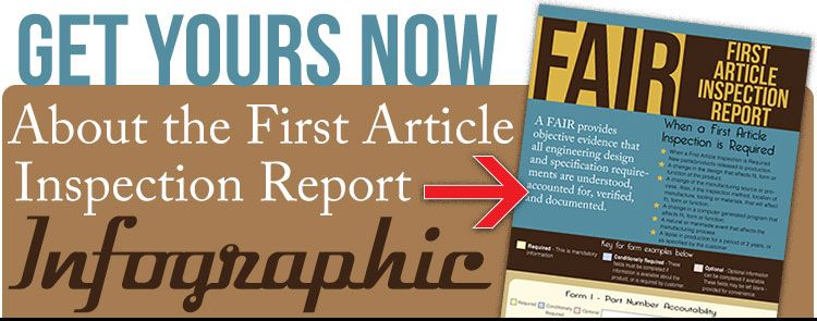 Get First Article Inspection Report Infographic