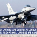 "F-16 Viper Landing Gear Control Assembly Because ""Takeoffs Are Optional. Landings Are Mandatory."""