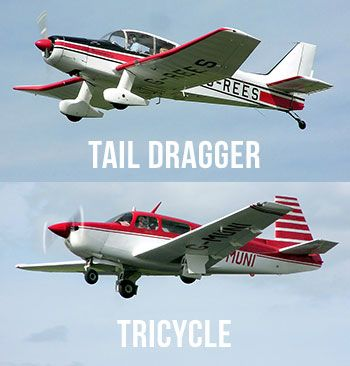 tail dragger tricycle landing gear