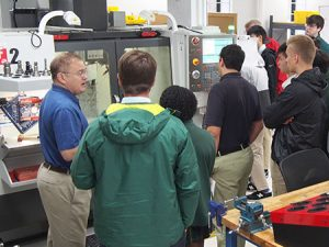 cnc machine shop high school tour