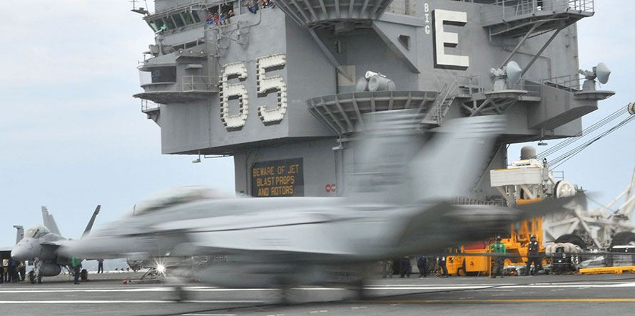 USN F-18 USS Enterprise magic carpet