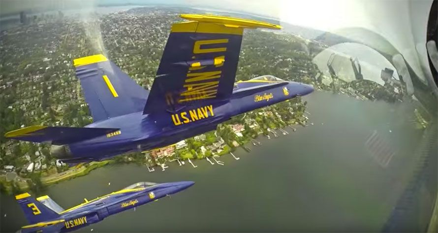 Blue Angels Video of Insane Footage Takes You Inside the Cockpit