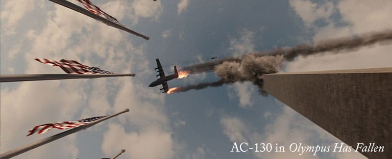 ac-130 in Olympus Has Fallen