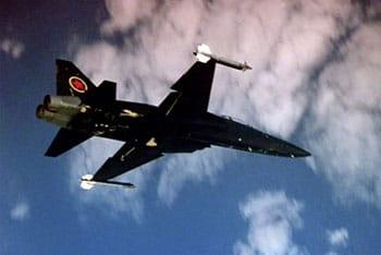 F-5 Tiger II representing the MiG-28 in the movie Top Gun