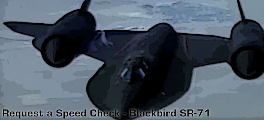 Jet Friday: Request a Speed Check – Blackbird SR-71
