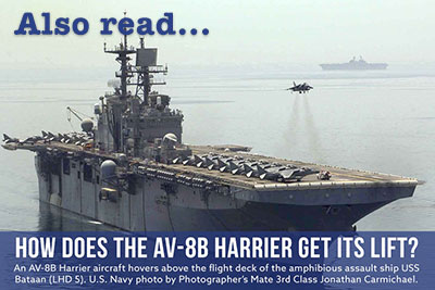 How Does the AV-8B Harrier Get Its Lift