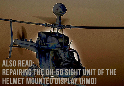 Repairing the OH-58 Sight Unit of the Helmet Mounted Display (HMD)