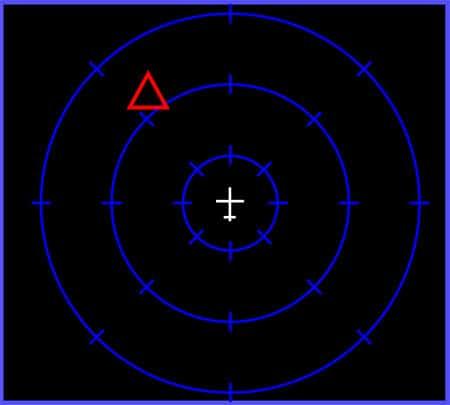 display of a radar warning receiver rwr