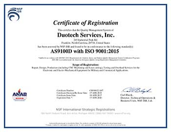 AS9100D & ISO 9001:2015