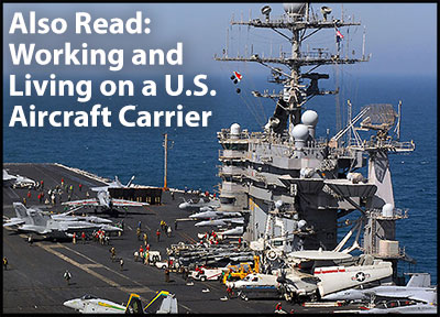 Working and Living on a U.S. Aircraft Carrier