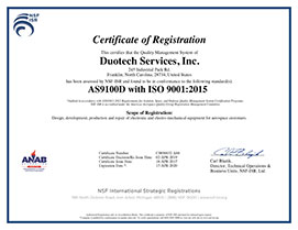 as9100d iso9001:2015 certificate