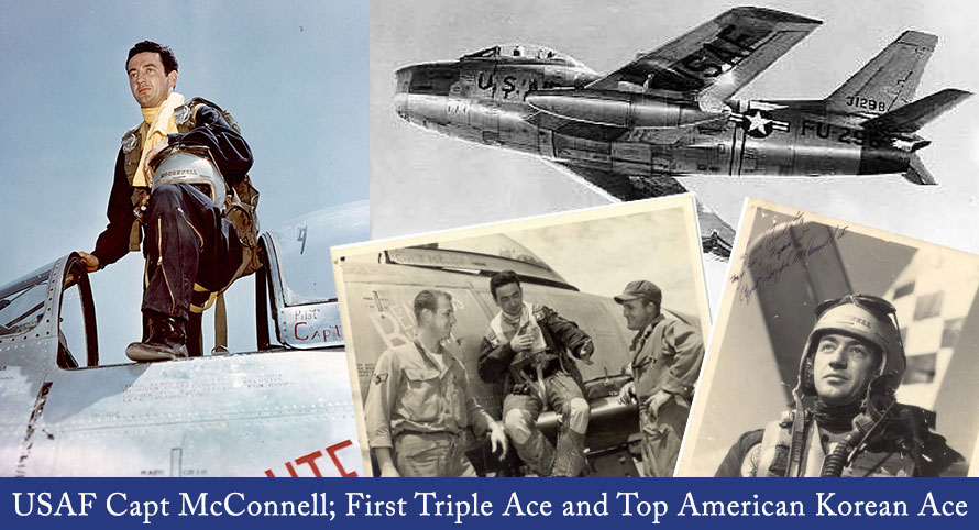 USAF Capt McConnell; First Triple Ace and Top American Korean Ace