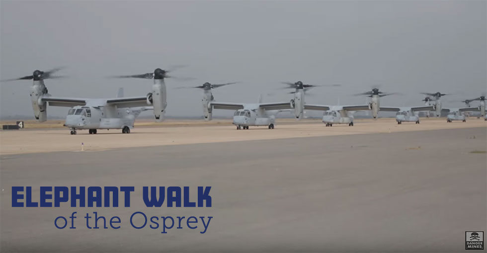 Elephant Walk of the MV-22B Osprey