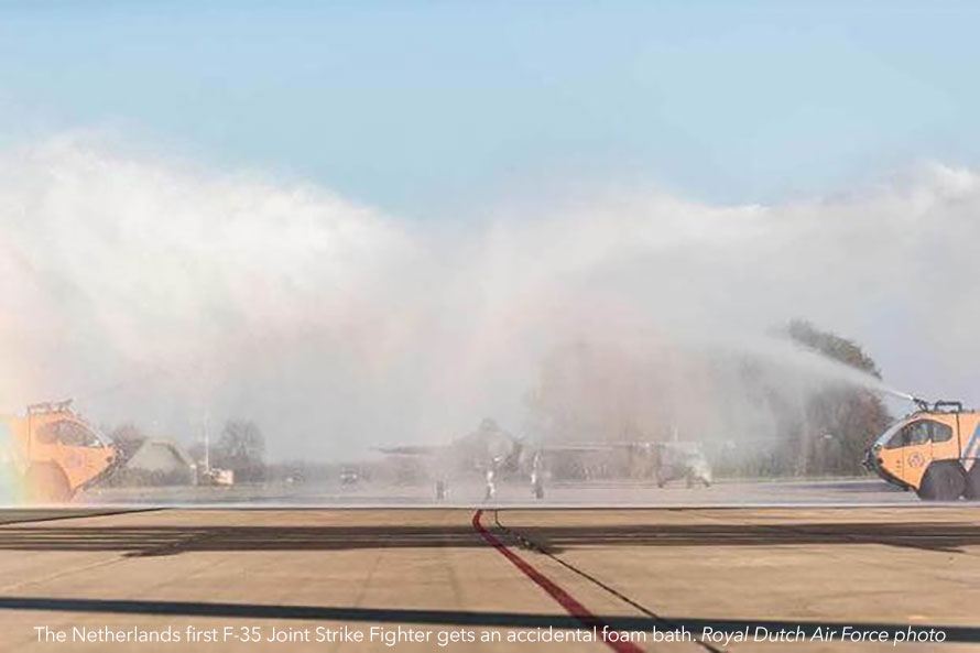 Bubble Bath for an F-35 Lightning II