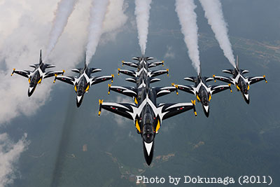 south korea Black Eaglesflying T-50 Golden Eagle