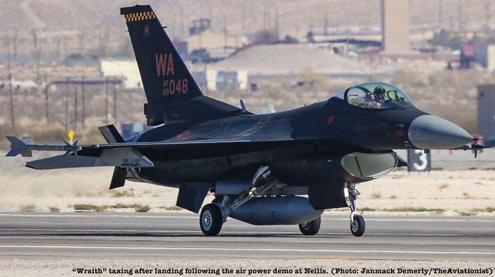 "This F-16 Viper Aggressor Showing Off Its New ""Wraith"" Paint Job"