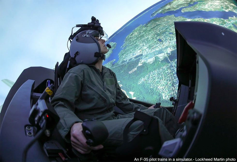 US Air Force New Virtual Training Center at Nellis AFB