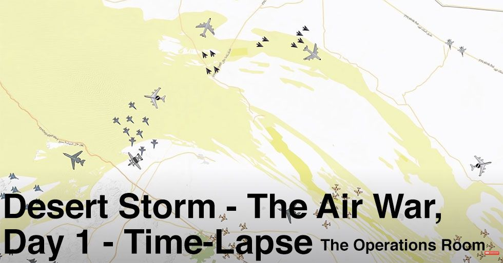 time lapse of desert storms air war on day 1