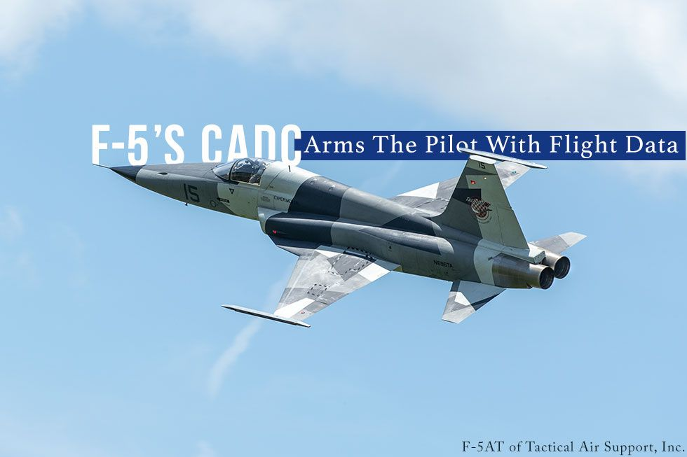 F-5s CADC 948312-6-1 Arms The Pilot With Flight Data