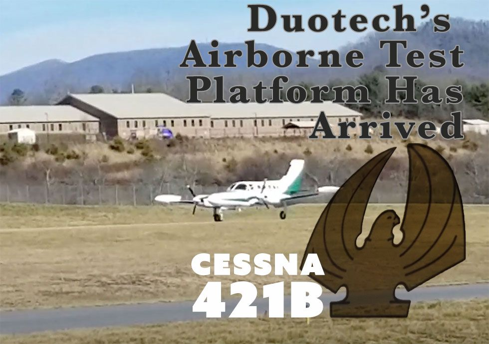 airborne radar test platform cessna 421 franklin nc macon county airport 1a5